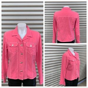 Cani size large pink jean jacket